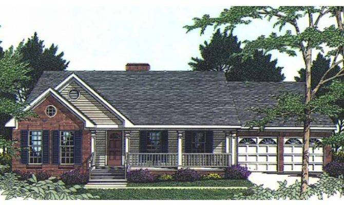 Eplans Country House Plan Porches Front Back Square Feet
