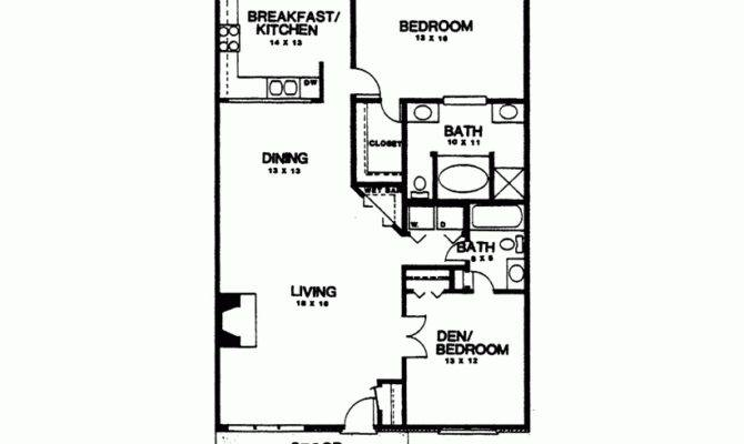 Eplans Country House Plan Two Bedroom Square Feet