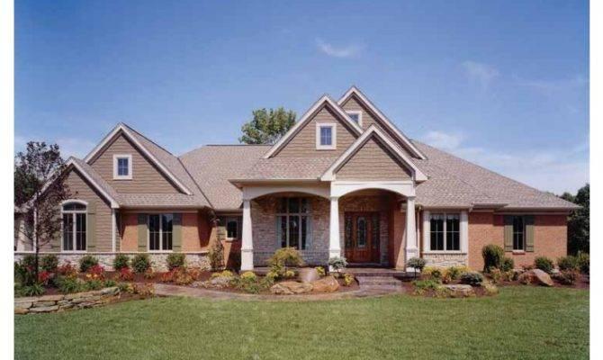 Eplans Craftsman House Plan Brick Stone Shake Shingle Facade