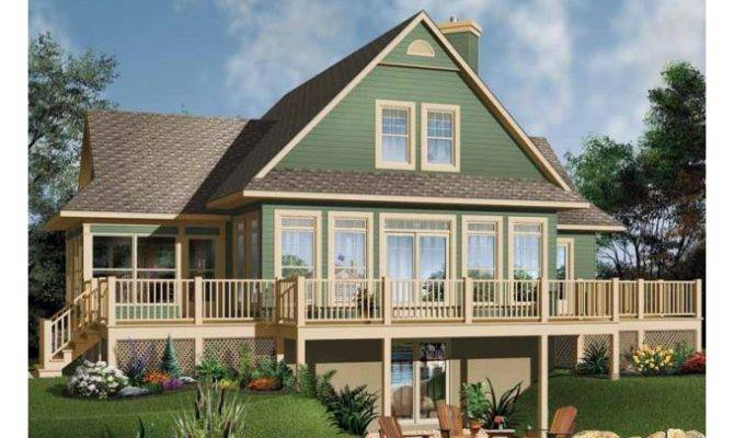 Eplans Craftsman House Plan Oceanfront Perfect Square Feet
