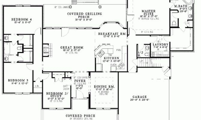Eplans Dutch House Plan Exceptional Master Suite Square Feet