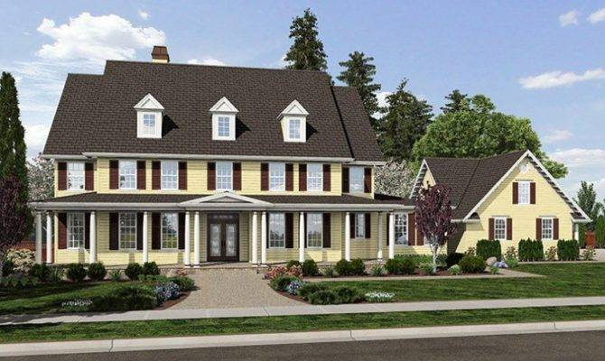 Eplans Farmhouse House Plan Colonial Stately Front