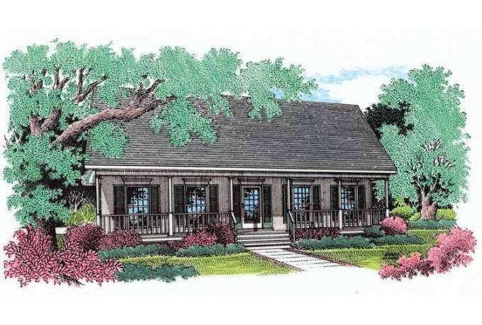Eplans Farmhouse House Plan Elegant Columns Square Feet