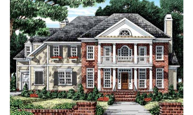 Eplans Greek Revival House Plan Delightful Double Decker Porch