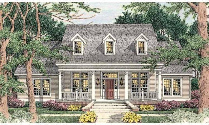 Eplans Greek Revival House Plan Front Rear Porch Square