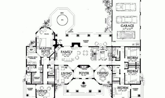 Eplans Mediterranean House Plan Bring Outdoors Square