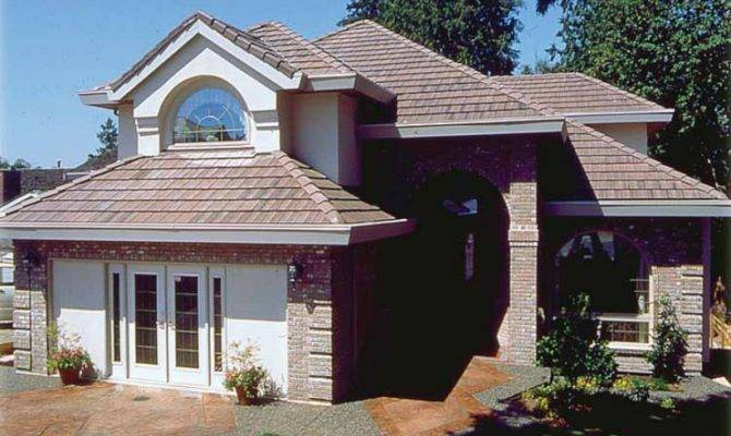 Eplans Mediterranean House Plan Well Suited Narrow Lot Square