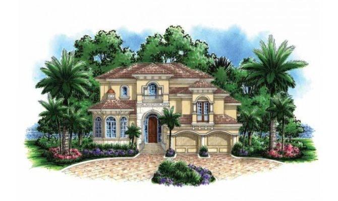 Eplans Mediterranean Modern House Plan Narrow Lot Home