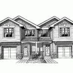 Eplans New American House Plan Narrow Lot Duplex Front Loading
