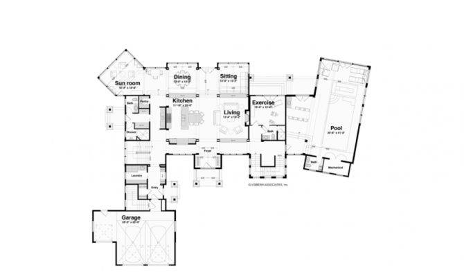 Eplans New American House Plan Two Story Indoor Pool Square