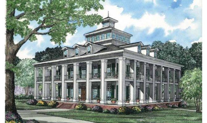Eplans Plantation House Plan Five Bedroom Square