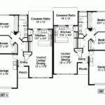 Eplans Ranch House Plan Single Level Duplex Square Feet