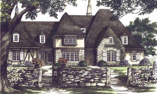 Eplans Tudor House Plan Provence Square Feet Bedrooms