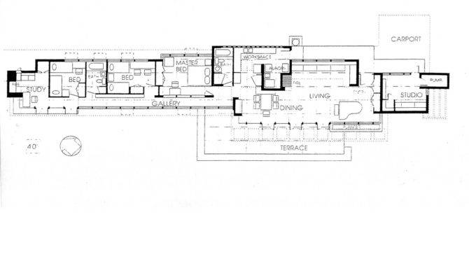 Eric Pat Pratt House Plan Frank Lloyd Wright