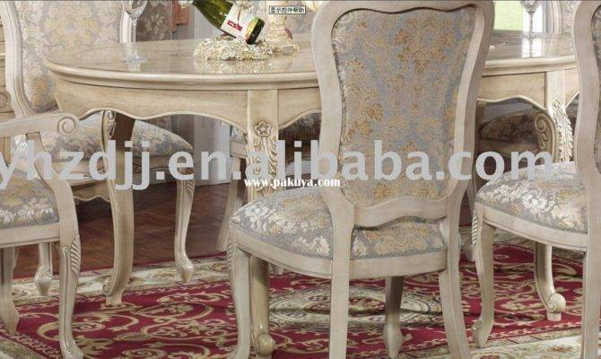 European Classic Home Furniture Dining Room Set Table
