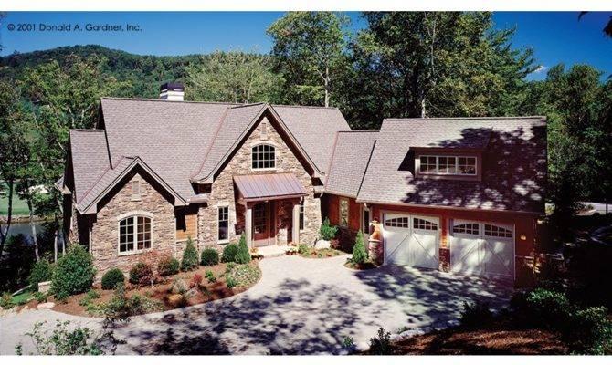 European Hillside Home Hwbdo Builderhouseplans