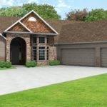 European Ranch House Plan Greatroom Car