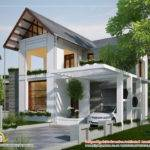 European Style Home Sloping Roof Kerala