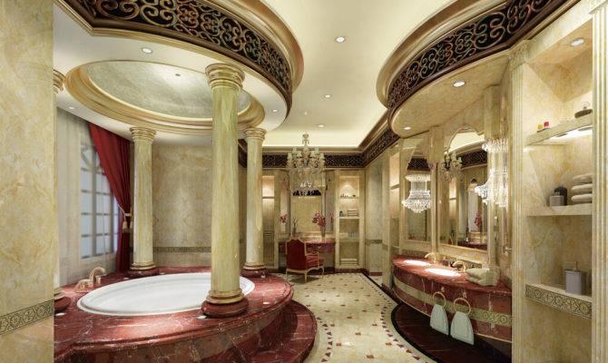European Style Luxury Bathroom Interior Decoration