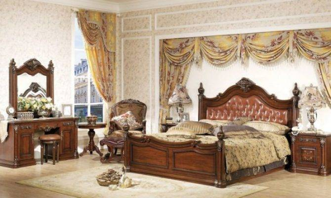 European Wooden Home Furniture Bedroom Set China Mainland