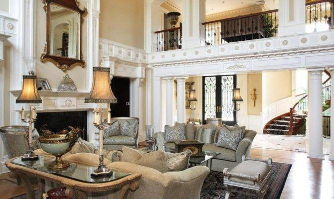 Every Detail Two Story Living Room Done Precision