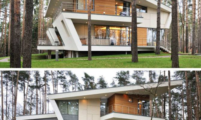 Examples Modern Houses Sloped Roof Contemporist