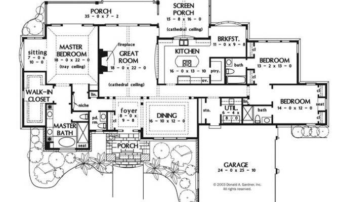 Exceptional Large One Story House Plans