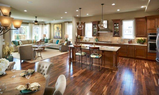 Expansive Open Concept Kitchen Ideas Dining Room