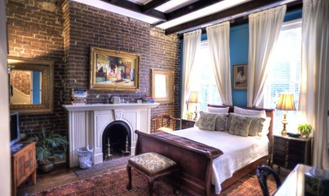 Exposed Brick Covered Fireplace Home Sweet Decorating Ins