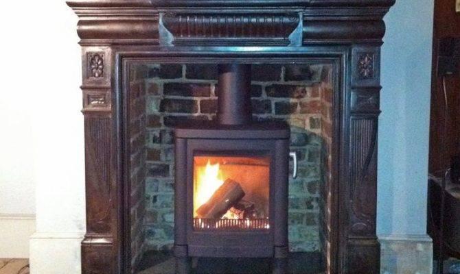 Exposed Brick Fireplace Mantel Pinterest