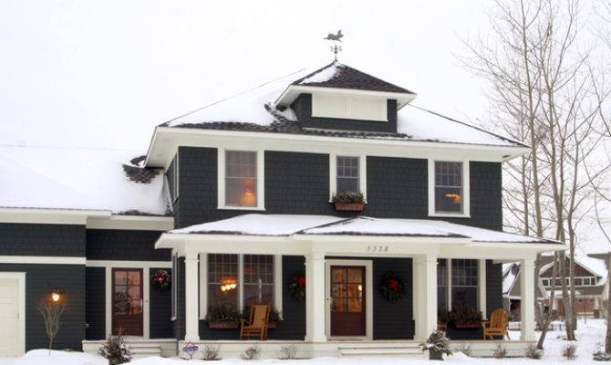 Exterior Classic American Four Square Traditional