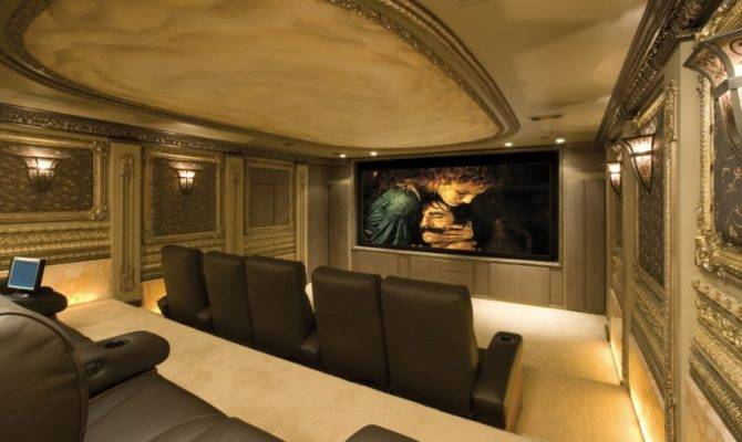 Exterior Classy Home Theater Design Completing Personal