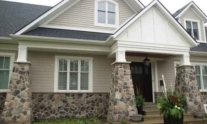Exterior Field Stone Veneer Houses