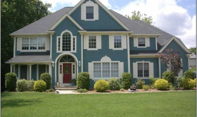 Exterior House Color Ideas Green