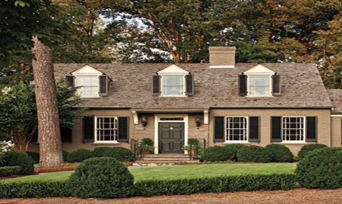 Exterior Paint Colors Cottages Brick Cape Cod House