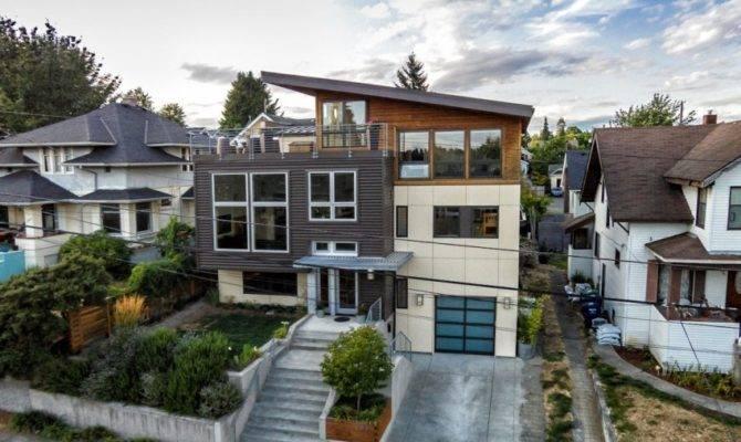 Exterior Remodel Contemporary House Split Level