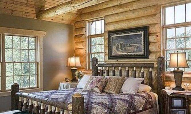 Extraordinary Rustic Log Home Bedrooms Style Estate