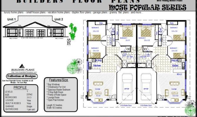 Fabulous Bedroom Duplex Floor Plans Garage