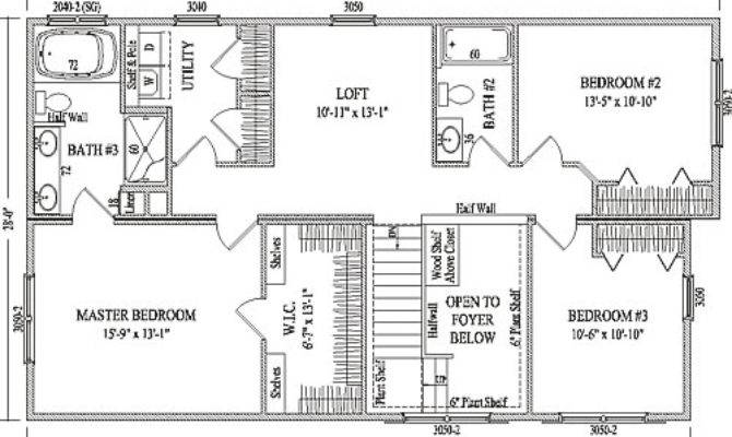 Fairbury Wardcraft Homes Two Story Floorplan