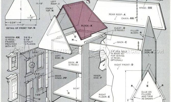 Fantastic Dollhouse Blueprints Woodworking Plans