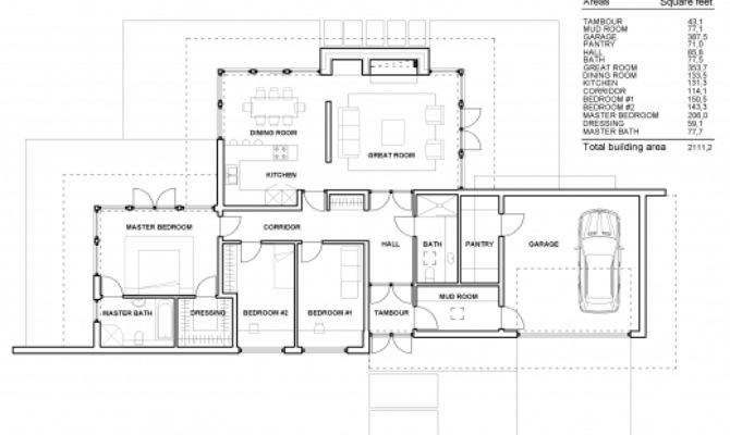Fantastic Small One Story Contemporary House Plans