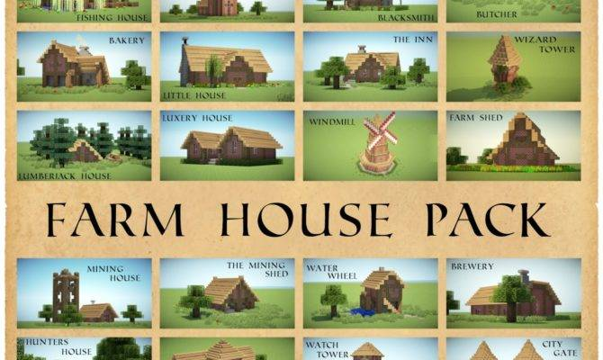 Farm House Pack Different Houses Minecraft