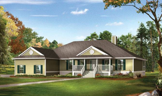 Farm Pond Country Ranch Home Plan House Plans More