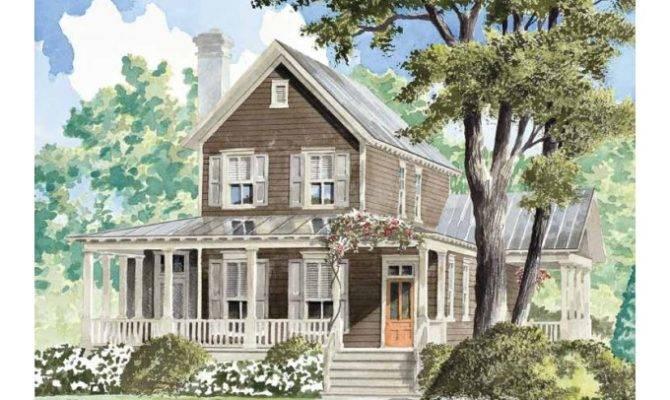 Farmhouse House Plan Turtle Lake Cottage Southern Living