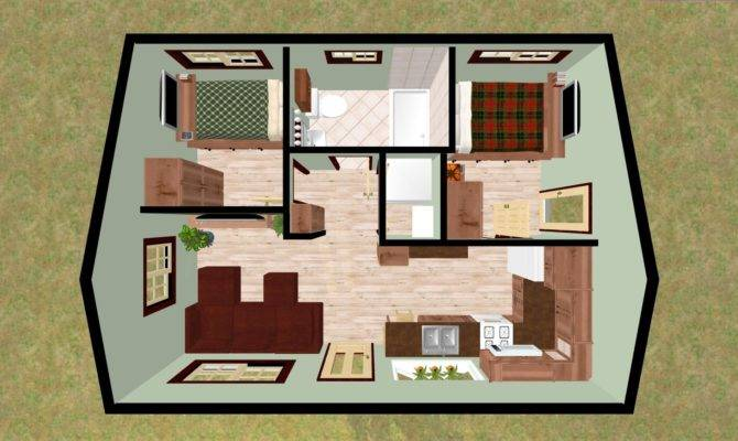 Fascinating Bedroom Bath House Plans Wooden Houses