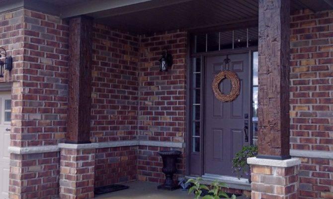 Faux Wood Columns Front Door Workshop