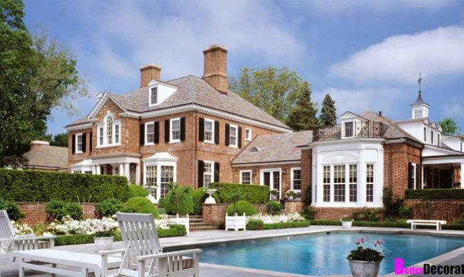 Featured Home Classic Brick Georgian Mansion Betterdecoratingbible