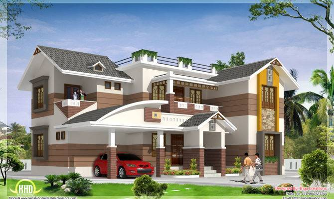 Feet Beautiful Bedroom House Elevation Kerala Home Design