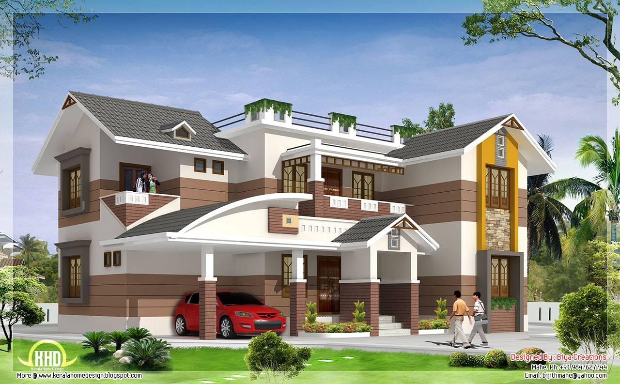 Feet Beautiful Bedroom House Elevation Kerala Home Design Home Plans Blueprints 47620