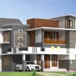 Feet Beautiful Modern Villa Kerala Home Design Floor